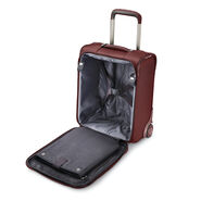 Samsonite Silhouette 16 Underseat Wheeled Carry-On in the color Cabernet Red.