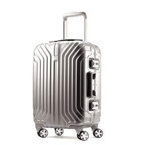 "Samsonite Tru-Frame 20"" Spinner in the color Matte Silver."