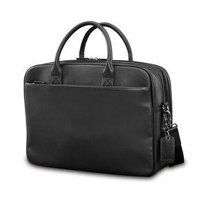 Samsonite Mens Leather Classic Double Compartment Briefcase in the color Black.