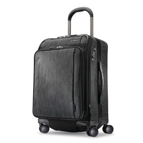 Samsonite SXK Carry-On Expandable Spinner in the color Black/Silver.