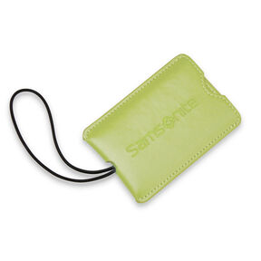 Samsonite Vinyl ID Tag (Set of 2) in the color Vivid Green.