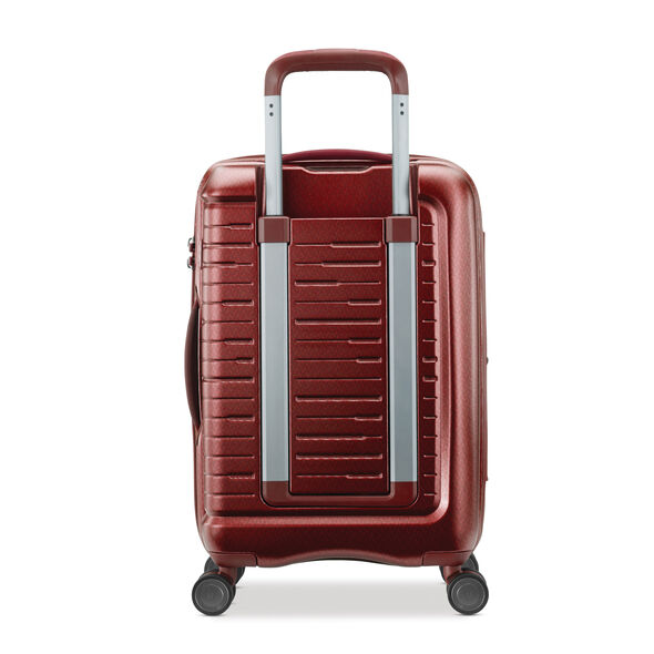 "Samsonite Silhouette 16 20"" Hardside Spinner in the color Cabernet Red."