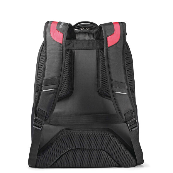 Samsonite UBX Commuter Backpack in the color Black/Red.