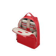 "Samsonite Karissa Biz Backpack 14.1"" in the color Formula Red."