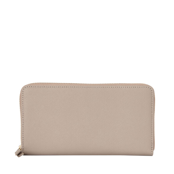 Samsonite Ladies Leather Zip Around Wallet in the color Light Grey.