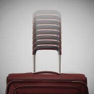 "Samsonite Silhouette 16 Expandable 25""  Spinner in the color Cabernet Red."