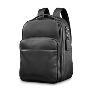 Samsonite Mens Leather Classic Traditional Backpack in the color Black.