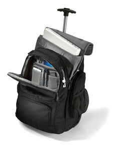 Wheeled Computer Backpack in the color Charcoal/Black.