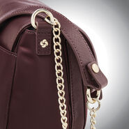Samsonite Encompass Womens Convertible Secure Saddle Bag in the color Bordeaux.