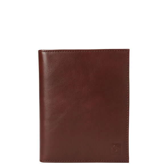 Samsonite Leather Passport Case in the color Chestnut.
