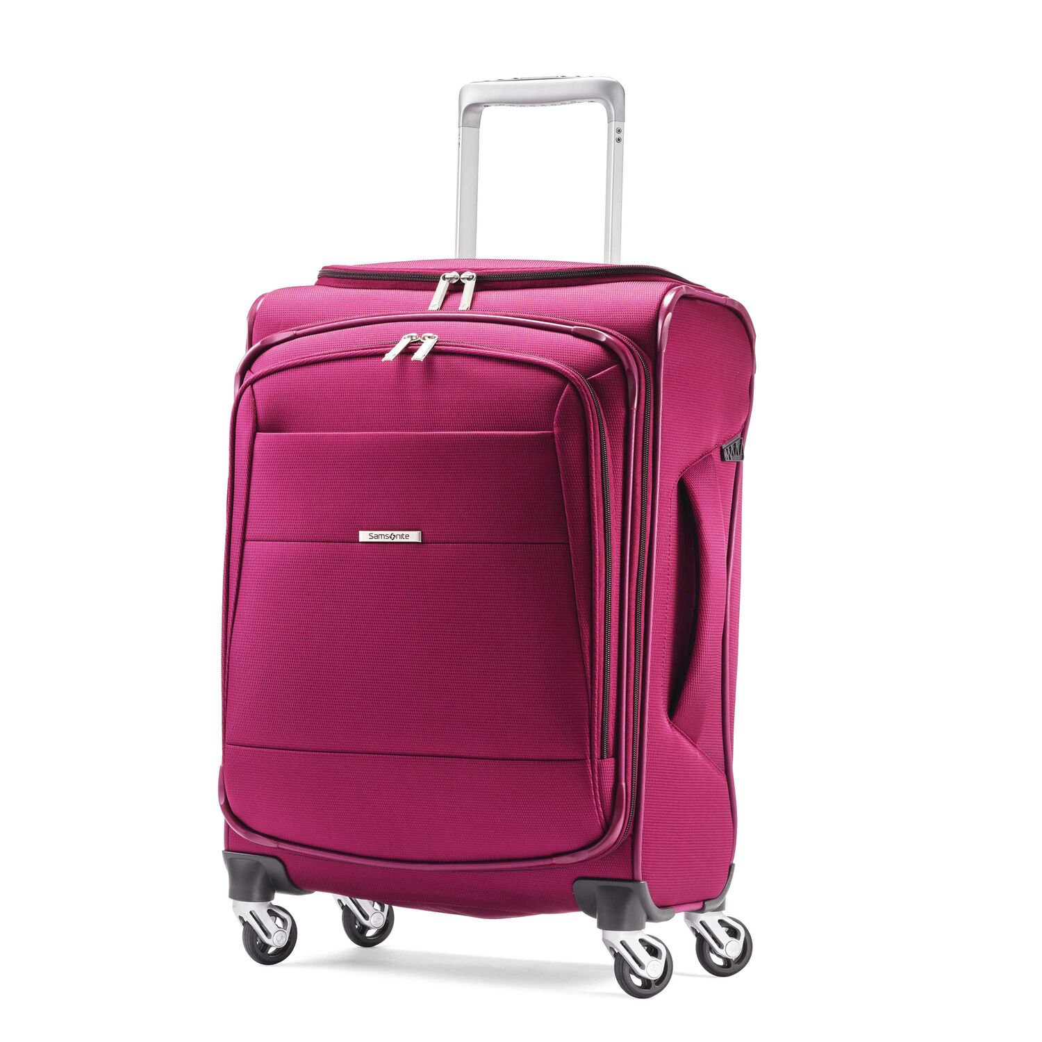 """Samsonite Eco-Nu 20"""" Expandable Spinner in the color Raspberry."""