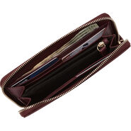 Samsonite Ladies Leather Zip Around Wallet in the color Sangria.