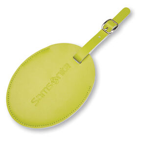 Samsonite Samsonite Large Vinyl ID Tag in the color Vivid Green.