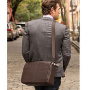 Samsonite Mens Leather Classic Messenger in the color Dark Brown.