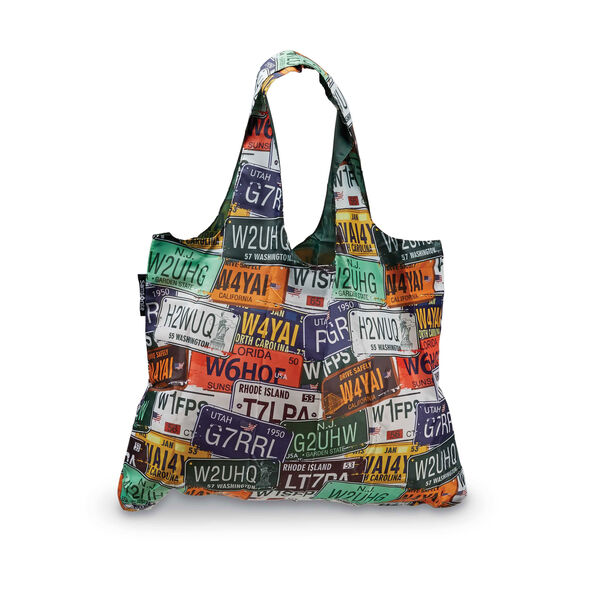 Foldable Shopper's Tote in the color License Plate.