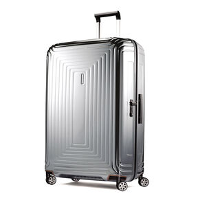 "Samsonite NeoPulse 30"" Spinner in the color Metallic Silver."