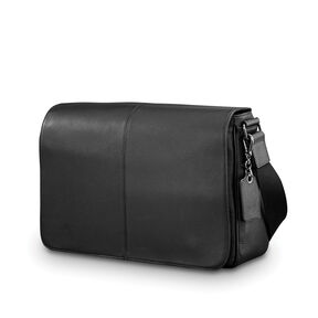 Samsonite Mens Leather Classic Messenger in the color Black.