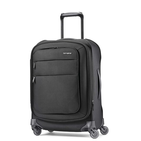 "Samsonite Flexis 21"" Spinner in the color Jet Black."