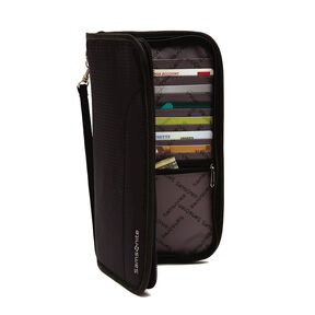 Samsonite RFID Zip Close Travel Wallet in the color Black.