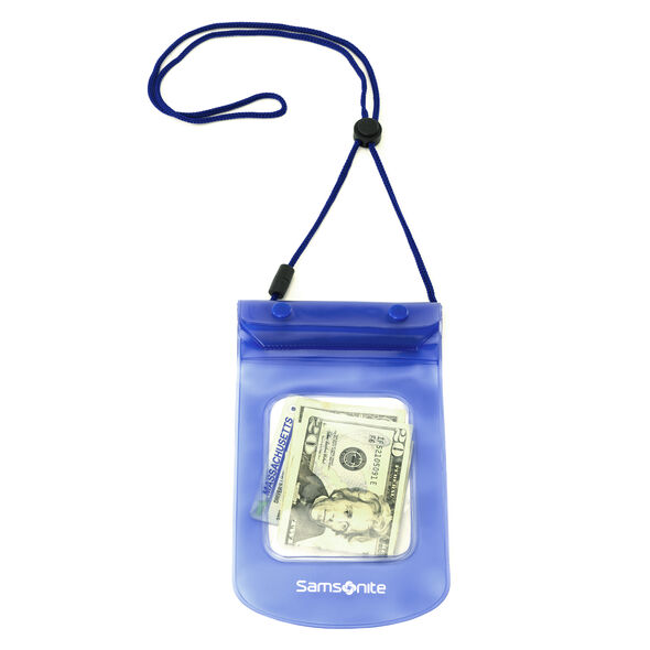 Samsonite Waterproof Pouch in the color Pagoda Blue.
