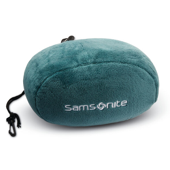 Samsonite Memory Foam Pillow w/Pouch in the color Deep Teal.
