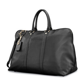 Samsonite Ladies Leather Weekender in the color Black.
