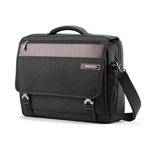 Kombi Flapover Briefcase in the color Black/Brown.