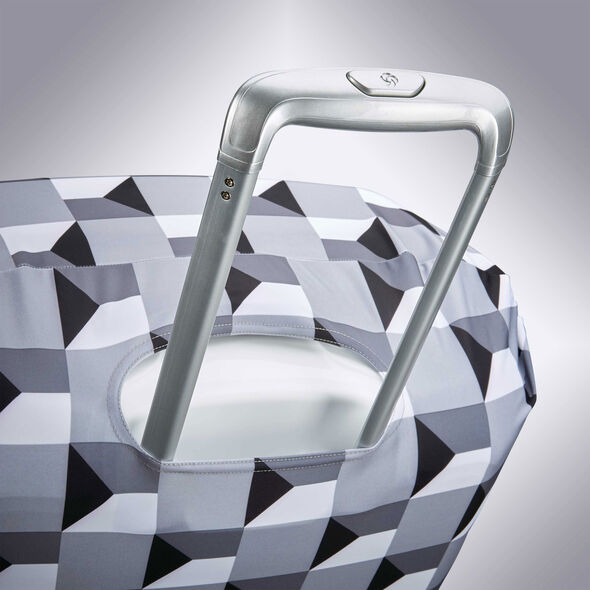 Samsonite Printed Luggage Cover M in the color Infinity Grey.
