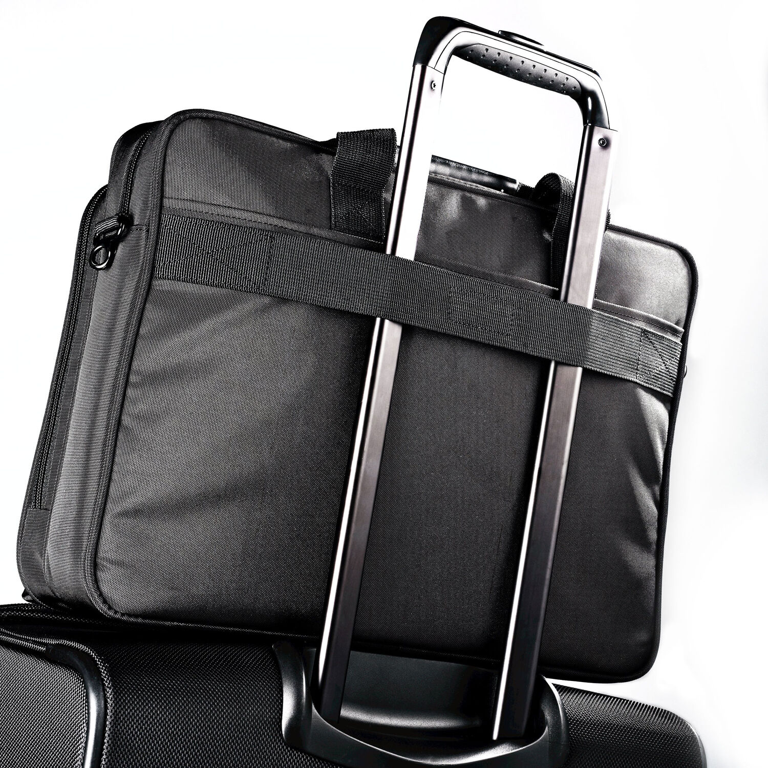 Samsonite Classic Business Perfect Fit Two Gusset Laptop Bag - 15.6 quot   in the color Black 9117ce9f93e6a