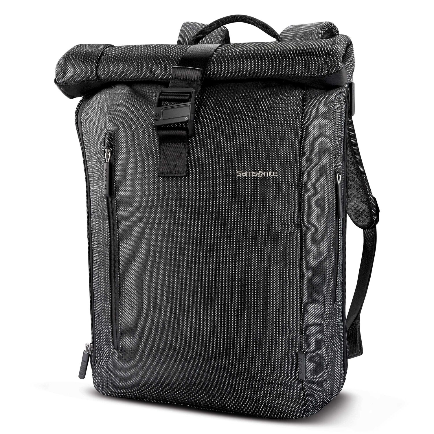 Samsonite SXK Rolltop Backpack in the color Black/Silver.