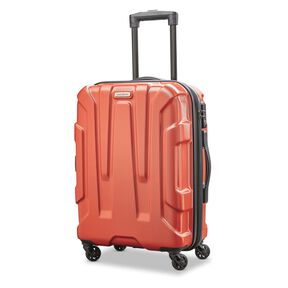 "Samsonite Centric 20"" Spinner in the color Burnt Orange."