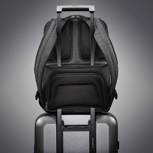 Samsonite SXK Slim Backpack in the color Black/Silver.