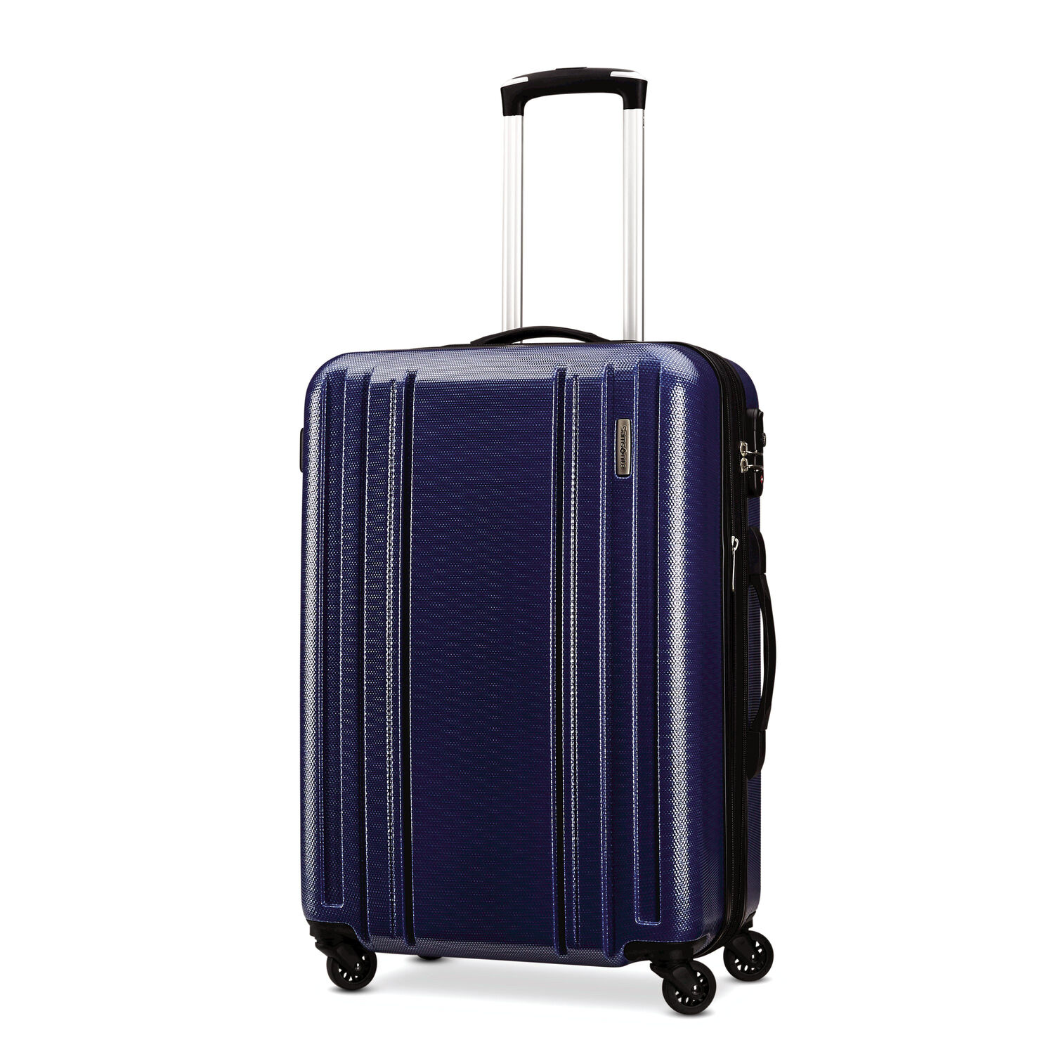 "Samsonite Carbon 2 20"" Spinner in the color Navy."