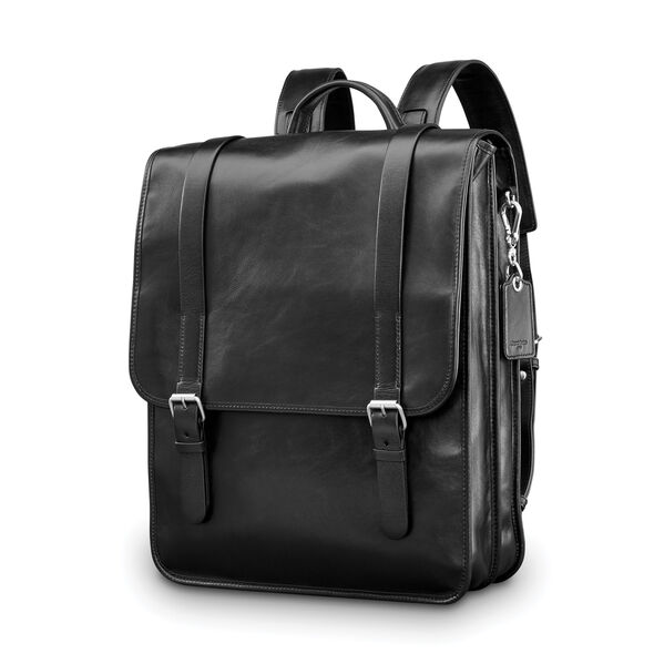 Samsonite Mens Leather 1910 Heritage Backpack in the color Black.