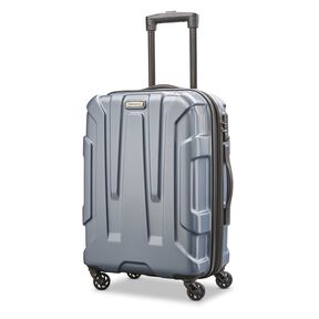 "Samsonite Centric 20"" Spinner in the color Blue Slate."