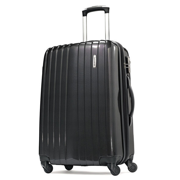 "Samsonite Carbon1 DLX 24"" Expandable Spinner in the color Silver."