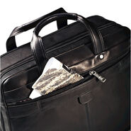Samsonite Colombian Leather 2 Pocket Business Case in the color Black.