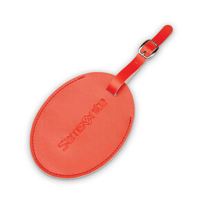 Samsonite Samsonite Large Vinyl ID Tag in the color Varsity Red.