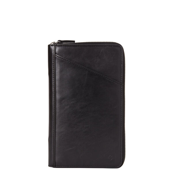 Samsonite Leather Zip Travel Wallet in the color Black.