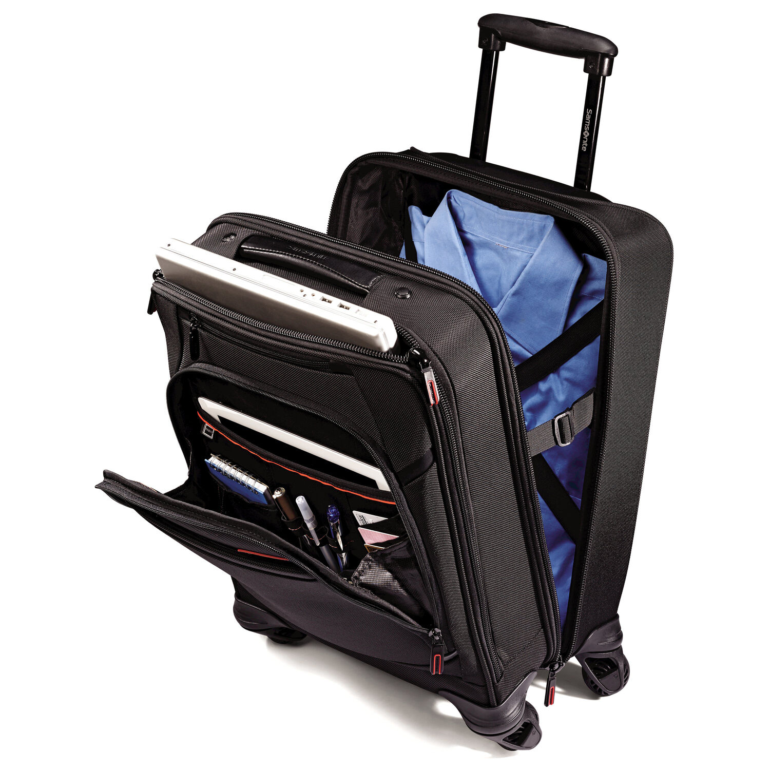 Samsonite Pro 4 Dlx Vertical Spinner Mobile Office In The Color Black