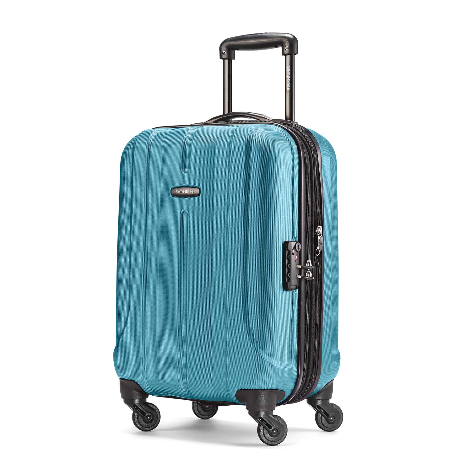 "Samsonite Fiero 20"" Spinner in the color Ocean Blue."