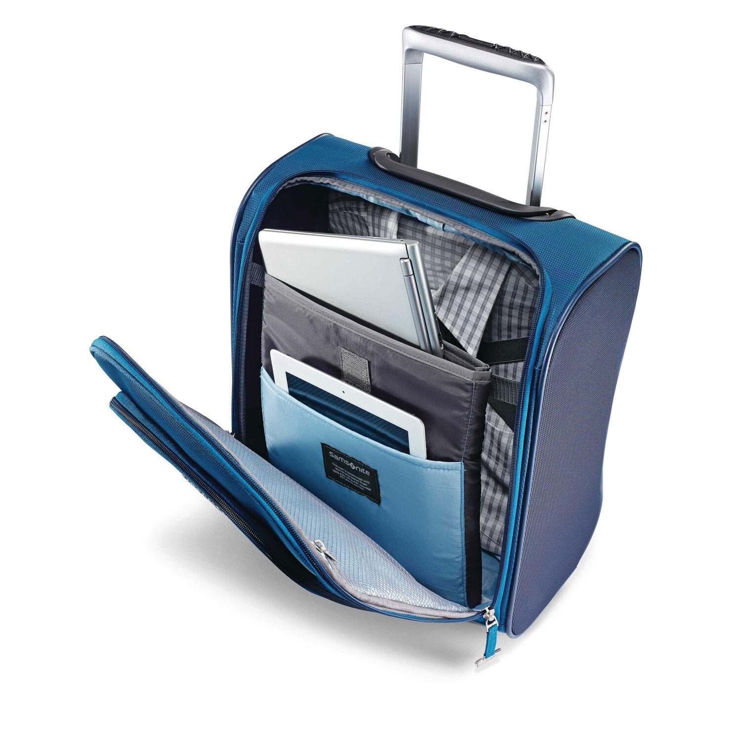 ae544221439 ... Samsonite Eco-Nu Wheeled Underseater Carry-On in the color Pacific  Blue Navy ...