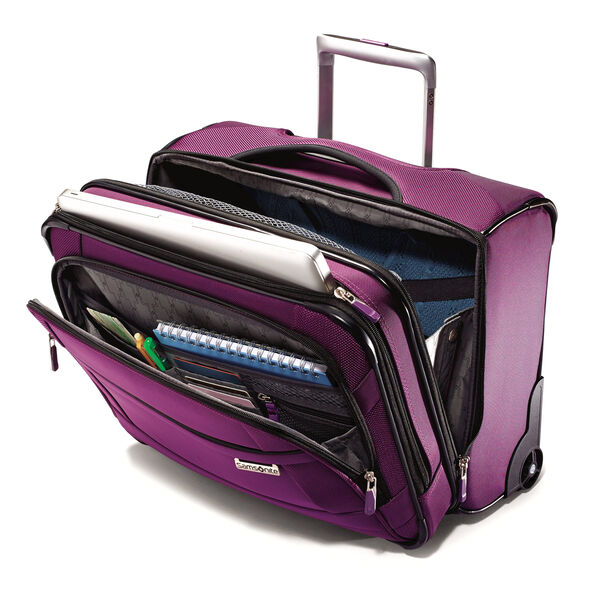 Samsonite SoLyte Wheeled Boarding Bag in the color Purple Magic.