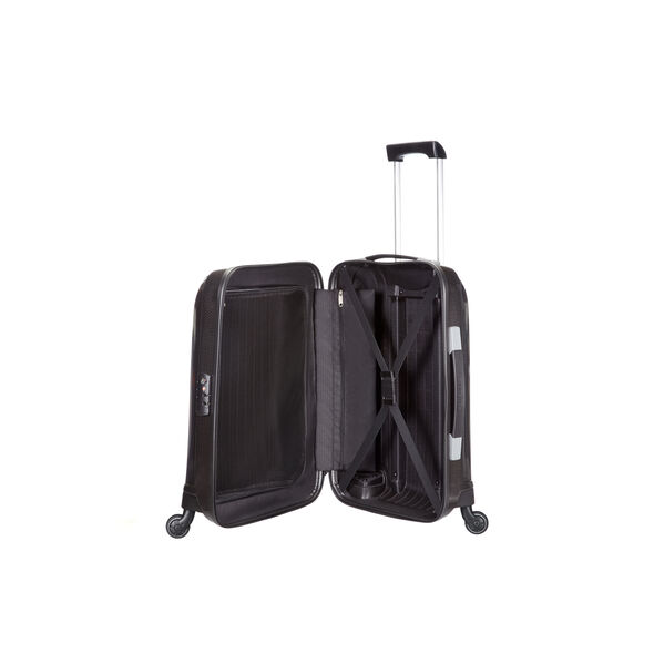 "Samsonite Chronolite 20"" Spinner in the color Black."