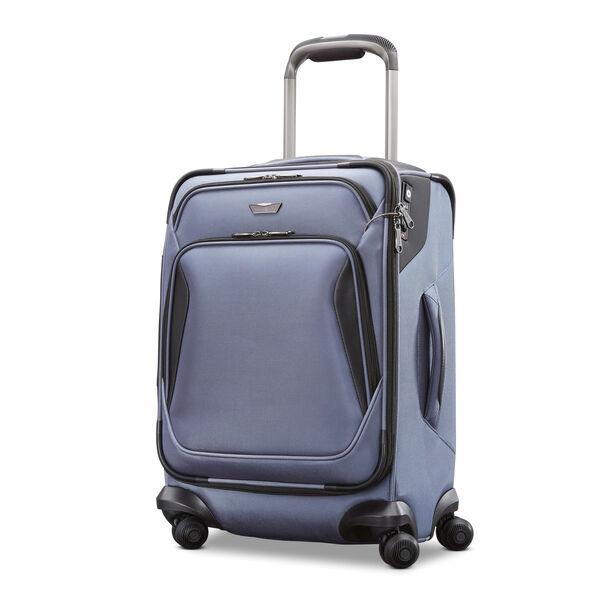 "Samsonite Armage 21"" Expandable Spinner in the color Steel Blue."