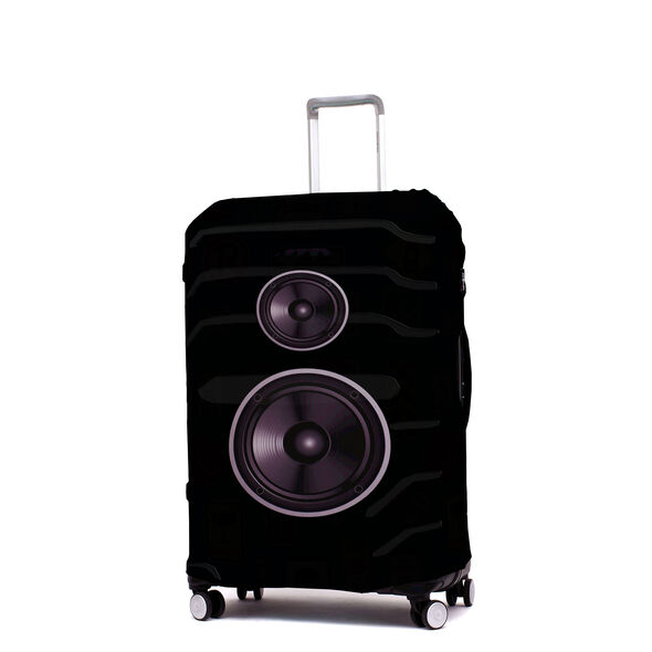Printed Luggage Cover - M in the color Speakers.