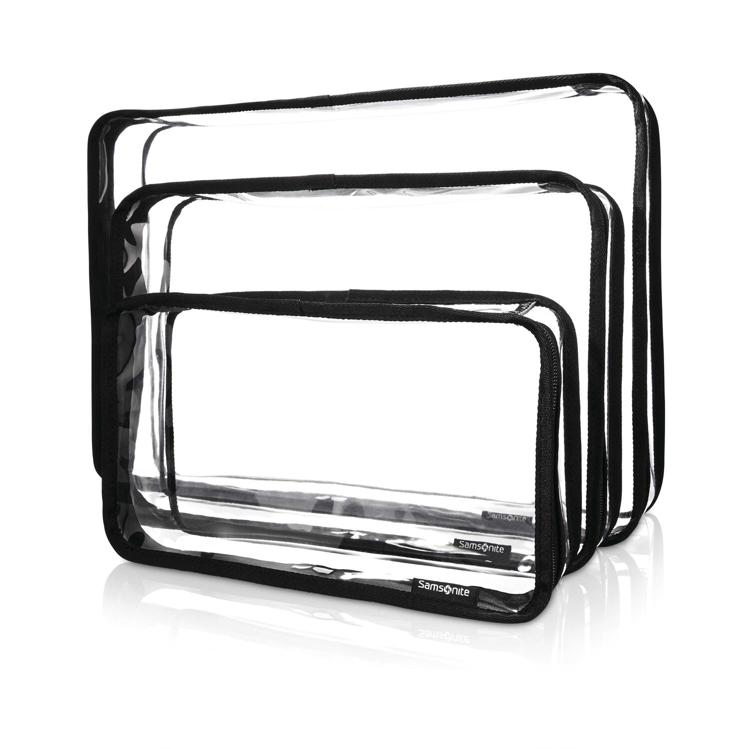 Samsonite Go Clear 3PC Packing Cubes in the color Clear.