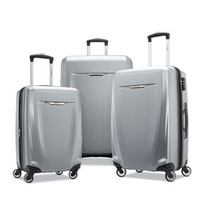 Samsonite Winfield 3 DLX 3 Piece Set in the color Silver.