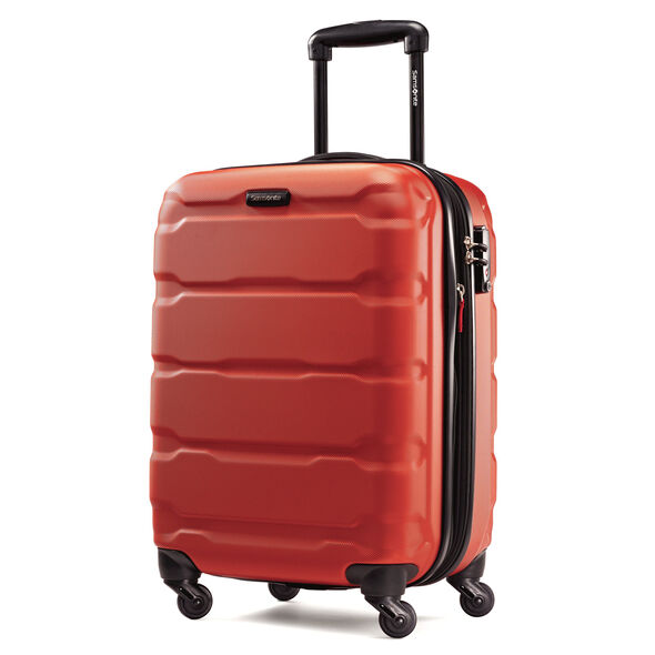 "Samsonite Omni PC 20"" Spinner in the color Burnt Orange."