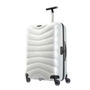 "Samsonite Firelite 25"" Spinner in the color Off White."